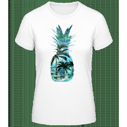 Ananas Palmen - Frauen Basic T-Shirt