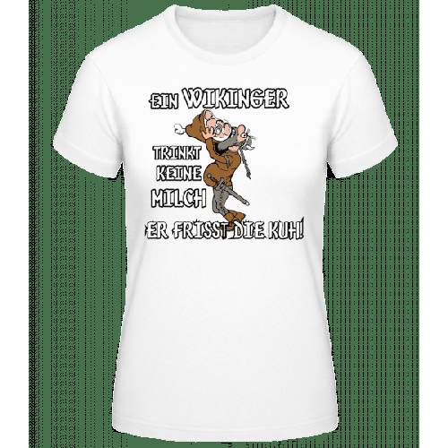 Wikinger Fressen Die Kuh - Basic T-Shirt