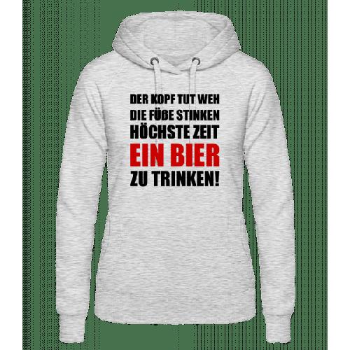 Kopf Tut Weh Bier Trinken - Frauen Hoodie