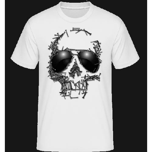 Sonnenbrille Totenkopf - Shirtinator Männer T-Shirt