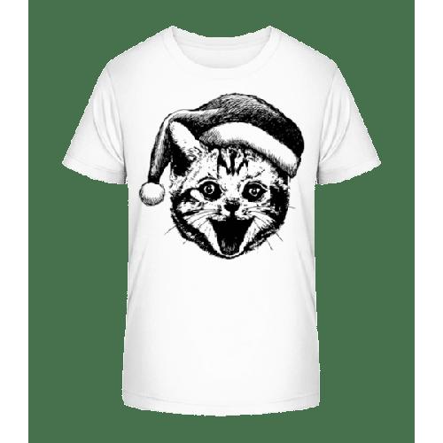 Weihnachtskatze - Kinder Premium Bio T-Shirt
