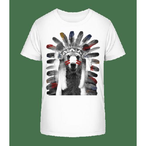 Indianer Bär - Kinder Premium Bio T-Shirt