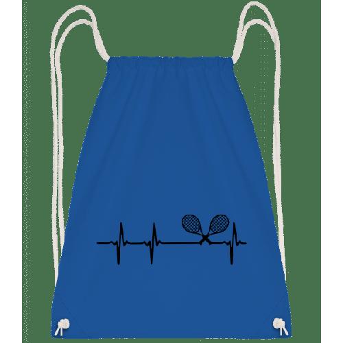 Tennis Herzschlag - Turnbeutel