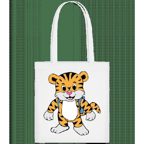 Süßer Tiger mit Rucksack - Stoffbeutel