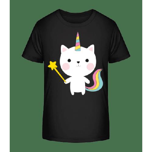 Zaubernde Einhorn Katze - Kinder Premium Bio T-Shirt
