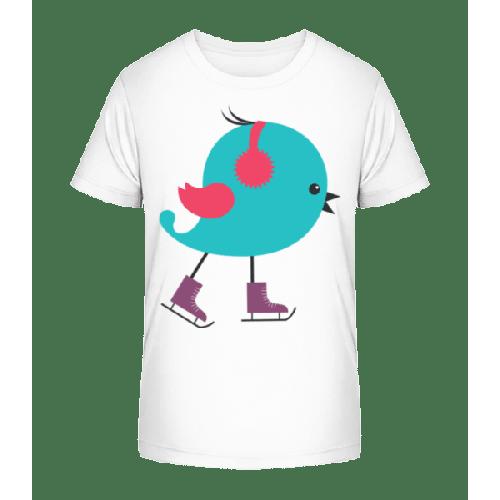 Schlittschuh Vogel - Kinder Premium Bio T-Shirt