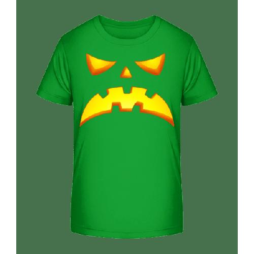 Kürbisgesicht Böse - Kinder Premium Bio T-Shirt