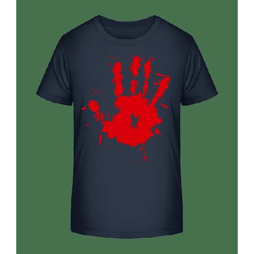 Blutiger Handabdruck - Kinder Premium Bio T-Shirt