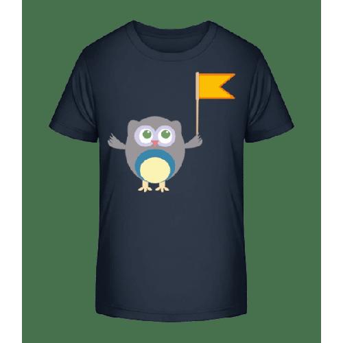 Süße Eule Mit Fähnchen - Kinder Premium Bio T-Shirt
