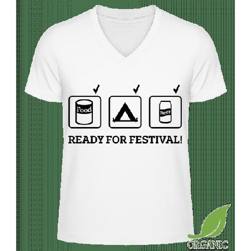 Ready For Festival - Männer Bio V-Neck T-Shirt