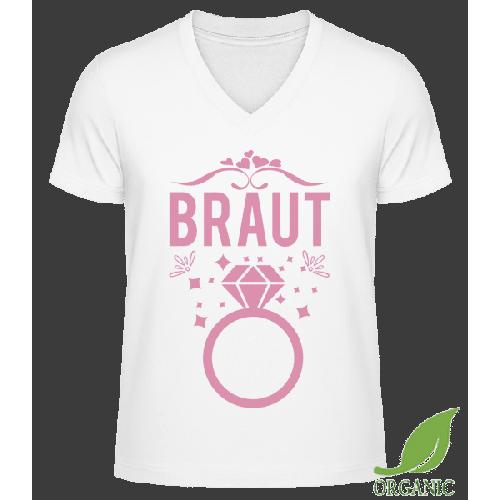 Braut Hochzeitsring - Männer Bio V-Neck T-Shirt