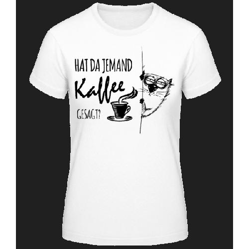 Kaffee Katze - Frauen Basic T-Shirt