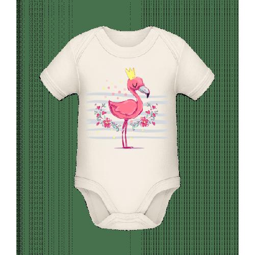 Königlicher Flamingo - Baby Bio Strampler