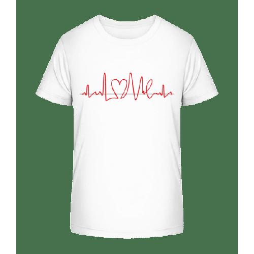 Herzfrequenz - Kinder Premium Bio T-Shirt