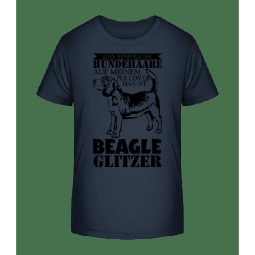 Hundehaare Beagle Glitzer - Kinder Premium Bio T-Shirt
