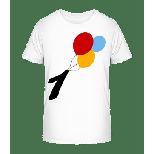 Geburtstag 1 Luftballons - Kinder Premium Bio T-Shirt