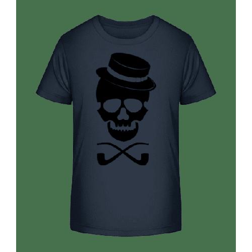 Totenkopf mit Hut - Kinder Premium Bio T-Shirt
