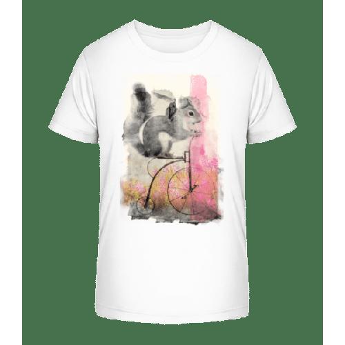Eichhörnchen Fahrrad - Kinder Premium Bio T-Shirt