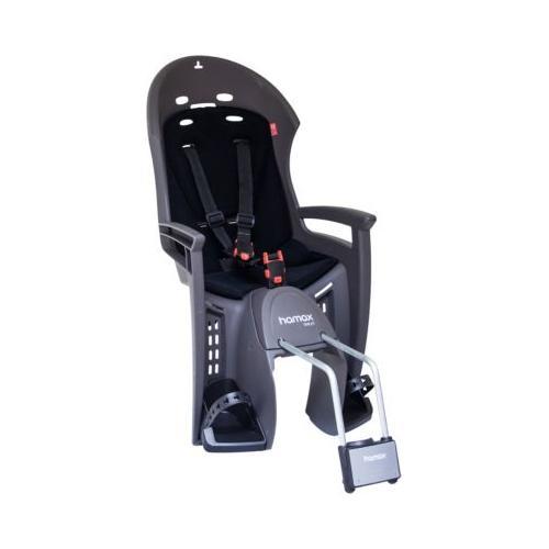 Fahrradsitz SMILEY mit abschließbarer Halterung grau/schwarz