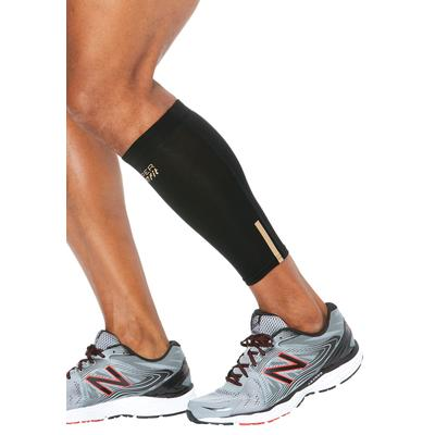 Men's Big & Tall Compression Calf Sleeves by Copper Fit in Black (Size 2XL/3XL)
