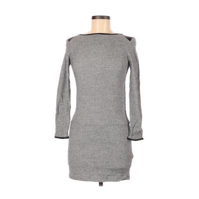 Trafaluc by Zara Casual Dress - Sweater Dress: Gray Dresses - Used - Size X-Small