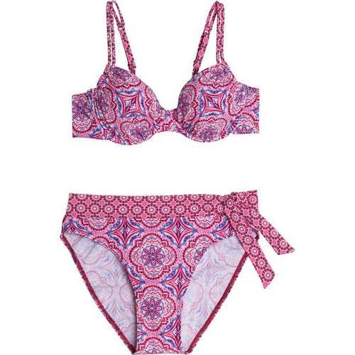 FIREFLY Damen Bikini Tanja, Größe 38B in Pink/Rot/Weiß