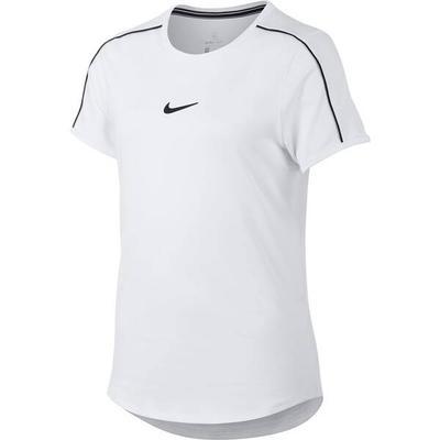 NIKE Mädchen Tennisshirt Dry Top Kurzarm, Größe XS in Grau