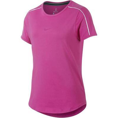 NIKE Mädchen Tennisshirt Dry Top Kurzarm, Größe XL in Lila
