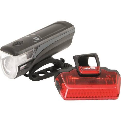 CON-TEC Fahrrad-Beleuchtungsset Speed-LED USB, Größe ONE SIZE in Schwarz/ Grau/ R0t