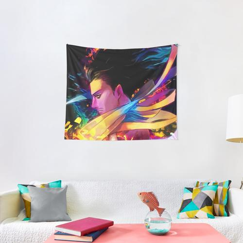 Neon Head Wall Tapestry