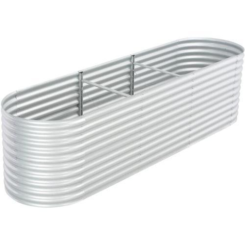Pflanzkubel Silbern 320 X 80 X 81 Cm Verzinkter Stahl