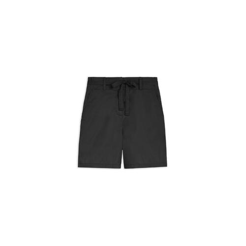 Sandwich Shorts mit Gürtel schwarz Damen Kurze Hosen kurz