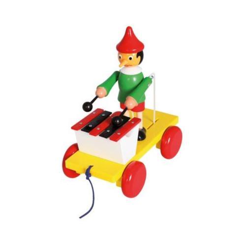 Ziehfigur Pinocchio m.Xylophon