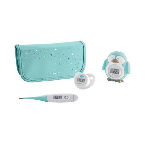 Baby- Thermometer Set Thermokit, blau, 3-tlg.