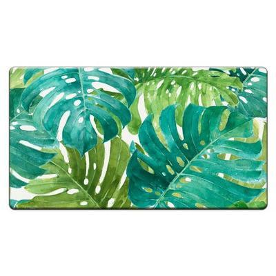 Tropical Green Cushioned Floor Mat 30 x 20, 30 x 20, Green