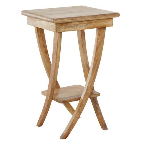 Beistelltisch mit dekorativ geschwungenen Beinen beige Beistelltische Tische