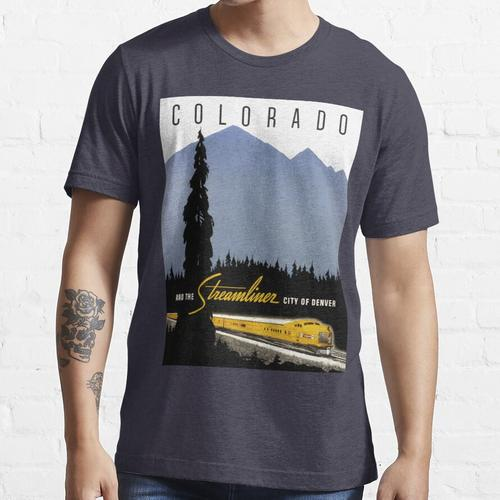 Vintage Denver Colorado Eisenbahnreise Essential T-Shirt
