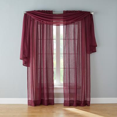 BH Studio Crushed Voile Scarf Valance by BH Studio in Wine
