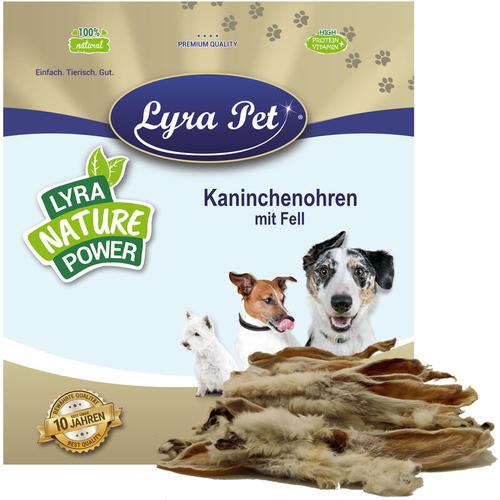 5 kg Lyra Pet® Kaninchenohren mit Fell