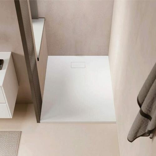 Duschwanne bodengleich PIATTO aus SoliCast® weiß 90 cm x 170 cm