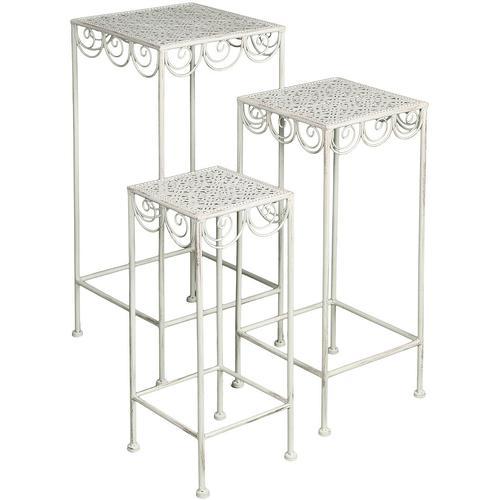 Ambiente Haus Beistelltisch, (Set, 3 St.) weiß Beistelltisch Beistelltische Tische