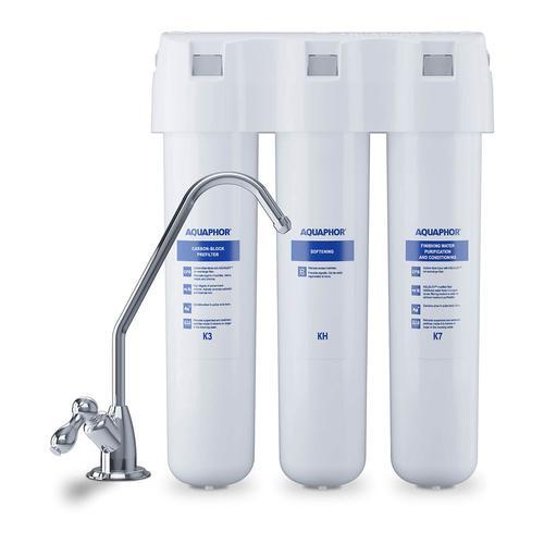Aquaphor Aktivkohle-System - für Wasser - dreistufig - 2l/min - inkl. Wasserhahn CRYSTAL H