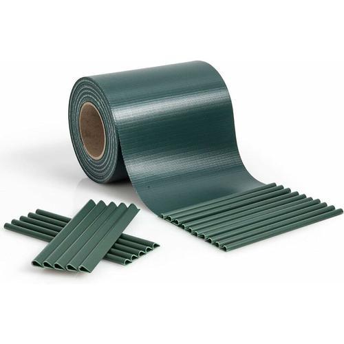 Zaunblende PVC, Sichtschutzfolie 19cm breit, Sichtschutzstreifen mit Befestigungsclips, Zaunfolie