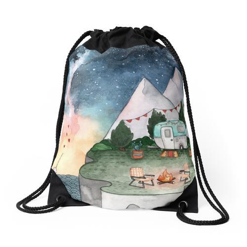 Camper Nachthimmel Rucksackbeutel