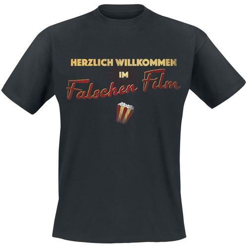 Falscher Film Herren-T-Shirt - schwarz