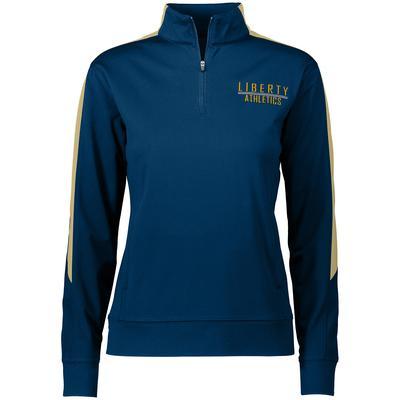 Augusta Sportswear 4388 Women's Medalist 2.0 Pullover T-Shirt in Navy Blue/Vegas Gold size 2XL | Polyester