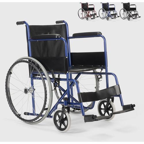 Fisiomed - Rollstuhl Kunstleder Klapp Orthopädischer Rollstuhl Behinderte und Ältere Menschen