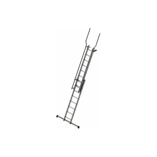 C. Stufenaufstieg mit Ausstiegsholmen und Befestigungsplatten