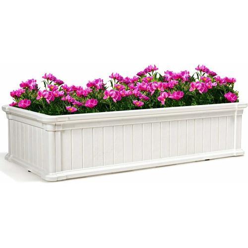 COSTWAY Hochbeet, Fruehbeet fuer Pflanzen und Gemuese, Blumenbeet Pflanzenbeet fuer Terrasse und