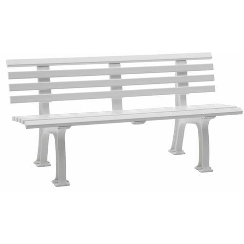 Sitzbank | Kunststoff | Breite 1500 mm | Weiß Sitzbank Gartenbank Ruhebank Bank